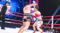 金发少女组合拳连击中国女将 不愧搏击王后