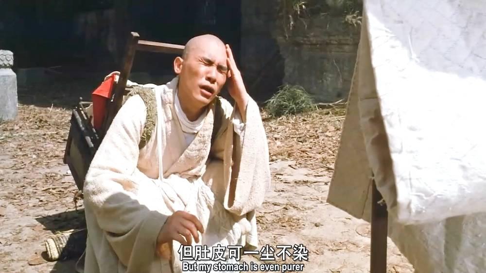 梁朝伟可真是机灵鬼,把肚子饿说得这么有文化,师父都拿他没辙