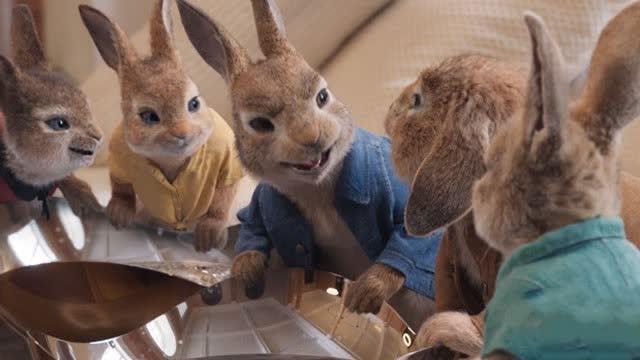 【比得兔2:逃跑计划】观众观影现场笑成表情包 大赞兔兔可爱