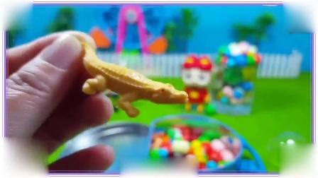 爆笑虫子与猪猪侠都喜欢吃蓝色的巧克力糖豆,忍者神龟 魔卡少女樱