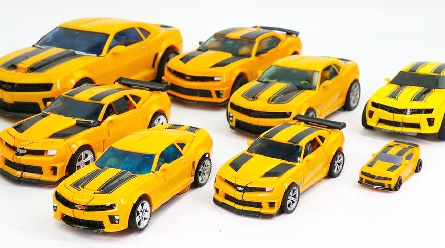 双辆变形金刚大黄蜂机器人玩具对比变形
