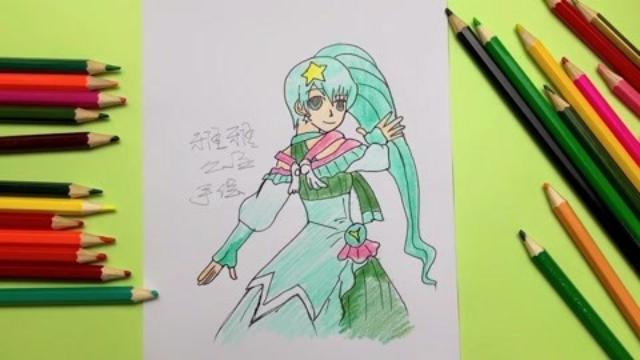 手绘教程,小魔仙双子星座变身后的雅雅公主简笔画,你喜欢吗?