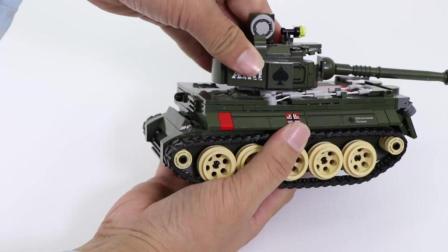 军事坦克积木,儿童迷彩玩具,军迷收藏