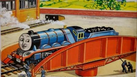 托马斯和他的朋友们原著绘本故事22-大火车们的密谋-煤水车和转车台