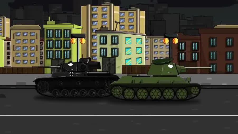 光棍影院坦克世界动画:kv44大战地下坦克