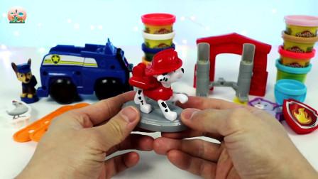 汪汪队巡警救援玩具,救援马歇尔套装玩具