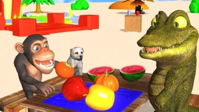 萌宝3D启蒙课堂!偷水果的鳄鱼,一起看看吧!