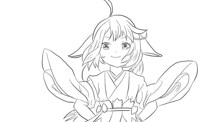 狐妖小红娘之可爱的涂山苏苏动漫简笔画