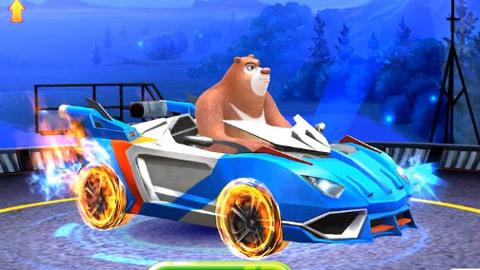 熊大开酷炫跑车消灭坏蛋保卫森林 熊出没之探险日记游戏