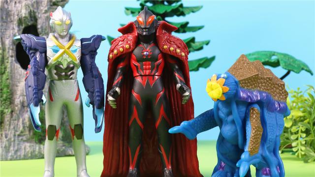 艾克斯迪迦奥特曼与奇怪的植物怪兽玩具