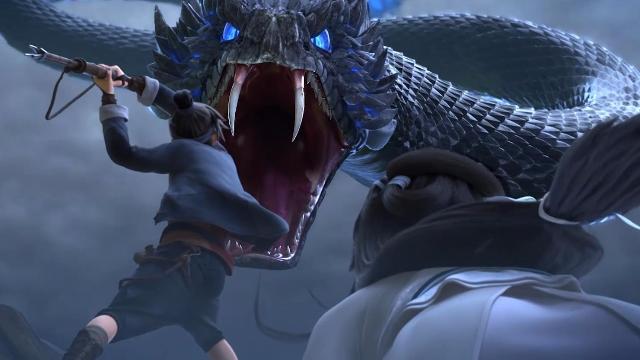 中国风动画《白蛇:缘起》年度最强动画,演绎人妖之恋!