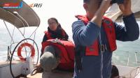 中国帆船公开赛·远远地能望到陆地船员激动得连磕头