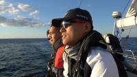 中国帆船公开赛-航行第一日:风行号水手兄弟看日出