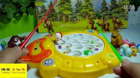 熊出没之秋日团团转举行钓鱼比赛