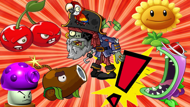 植物大战僵尸:海盗僵尸遇到小葵,小葵竟随身携带射手的炮弹